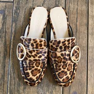 Ann Taylor Leopard Loafer Slides - Sz 8 - NWOT